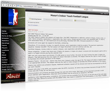 Mazur's Indoor Touch Football League